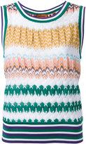 Missoni zigzag knit tank - women - Cotton/Viscose - 46