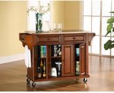 Crosley 52 in. Stainless Steel Top Kitchen Island Cart in Cherry