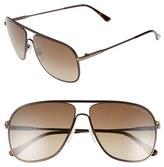 Tom Ford Men's 60Mm Matte Aviator Sunglasses - Matte Brown/ Havana Roviex
