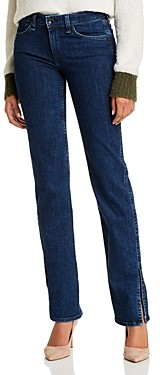 Rag & Bone Cate Slit Hem Flare Jeans in Night Blue