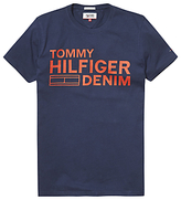 Hilfiger Denim Logo Crew Neck Organic Cotton T-shirt