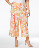 Melissa McCarthy Trendy Plus Size Cropped Culottes
