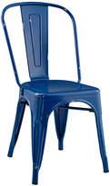 Walker Edison Navy Blue Stackable Metal Bistro Chair