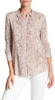 BCBGeneration Printed Long Sleeve Blouse