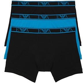 Giorgio Armani Cotton Stretch Ea Logo Boxer Briefs, 3 Pack