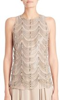 Ralph Lauren Beaded Silk Shell