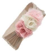 Baby Bling Mesh Flower Head Wrap