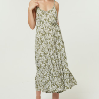 Jovonna London Green Tullie Dress with Spaghetti Straps - Large
