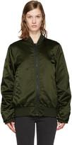 Acne Studios Green Leia Bomber Jacket