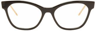 Gucci Black GG Stripe Cat-Eye Glasses