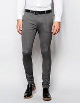 Asos Wedding Super Skinny Suit Pant in Salt and Pepper