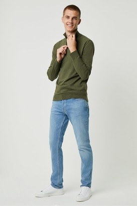 French Connection Stretch Cotton Half Zip Jumper