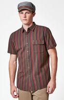 Brixton Roland Striped Short Sleeve Button Up Shirt