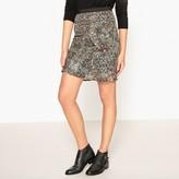 Ikks Printed Ruffled Skirt