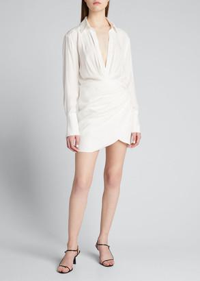 GAUGE81 Naha Long-Sleeve Mini Shirtdress
