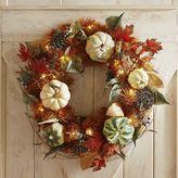 """Pier 1 Imports Faux Blue Pumpkins Oversized 26"""" Wreath"""