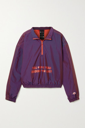 Adidas Originals By Alexander Wang Oversized Embroidered Printed Shell Track Jacket - Dark purple