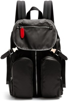 Neil Barrett Leather-trimmed nylon backpack