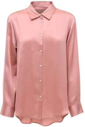 ASCENO The London Silk Pajama Top