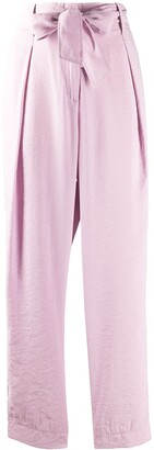 Forte Forte Crinkled Effect Tie Waist Trousers
