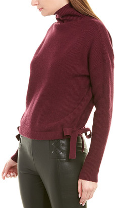 BCBGMAXAZRIA Tie-Side Wool-Blend Sweater