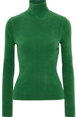 Alexandre Vauthier Ribbed Chenille Turtleneck Sweater