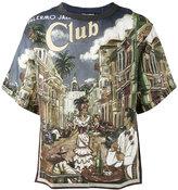Dolce & Gabbana Palermo Jazz Club T-shirt - men - Linen/Flax - 48