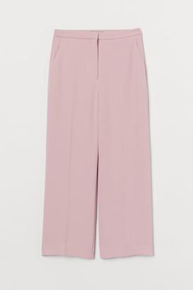 H&M Ankle-length Suit Pants - Pink