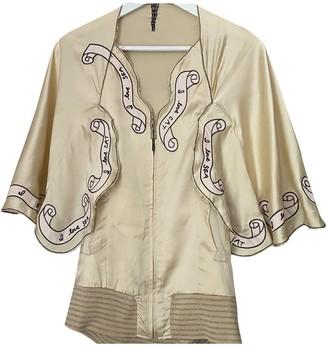 Tsumori Chisato Gold Silk Jackets