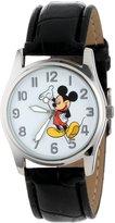Disney Men's MCK809 Mickey Mouse Silver Case Black Strap Watch