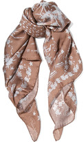 Roberto Cavalli Pretty Thing printed silk-georgette scarf