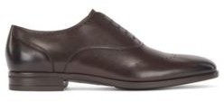HUGO BOSS Oxford Shoes In Burnished Leather With Lasered Details - Dark Brown