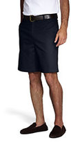Lands' End Men's Plain Front Blend Chino Shorts-Khaki