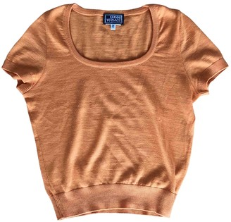 Gianni Versace Orange Cashmere Knitwear for Women Vintage
