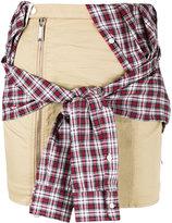 DSQUARED2 tied shirt mini skirt - women - Cotton/Spandex/Elastane/Viscose/Polyester - 38