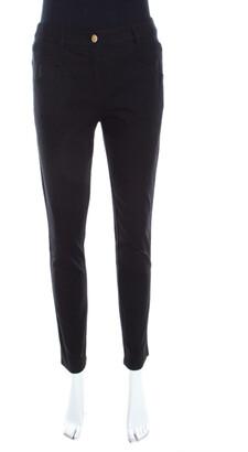 Escada Black Stretch Denim Teresa Straight Leg Jeans M