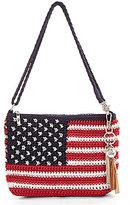 The Sak Shasta Tasseled Crochet Flag Convertible Demi Cross-Body Bag