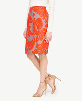 Ann Taylor Tall Fan Leaf Pencil Skirt