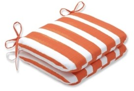 """Pillow Perfect Nico Stripe 15.5"""" x 18.5"""" Outdoor Chair Pad Seat Cushion 2-Pack"""
