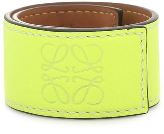 Loewe Anagram leather snap bracelet