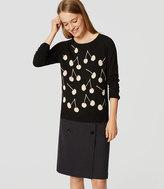 LOFT Cherry Button Back Sweater