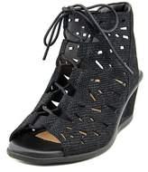 Earth Daylily Women Open Toe Leather Wedge Sandal.