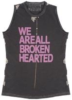 Freecity Broken Hearted Studded Sleeveless Tee