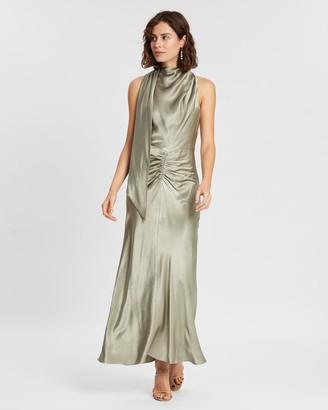 Shona Joy Ellis Scarf Neck Midi Dress