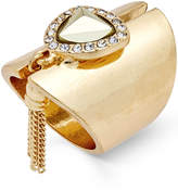 Thalia Sodi Gold-Tone Stone, Crystal and Fringe Statement Ring, Created for Macy's