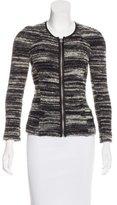 Etoile Isabel Marant Leather Trimmed Knit Jacket