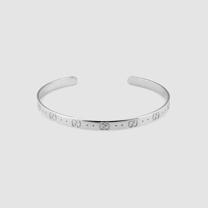 Gucci Icon bracelet in white gold