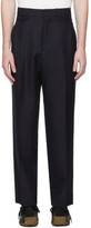 Lemaire Navy Two Pleat Trousers
