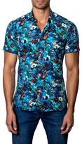Jared Lang Cotton Floral Print Sportshirt
