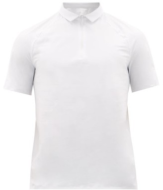 Jacques - Zipped Technical Polo Shirt - Mens - White